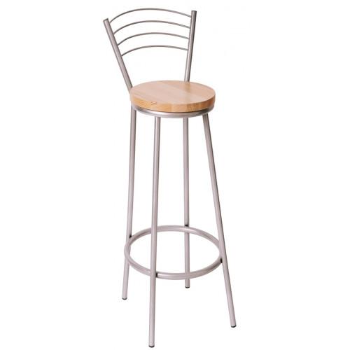 Барный высокий стул со спинкой БАРИ
