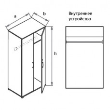 Офисный шкаф для одежды Моно-Люкс G5A05