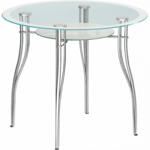 Обеденный стеклянный стол В-1