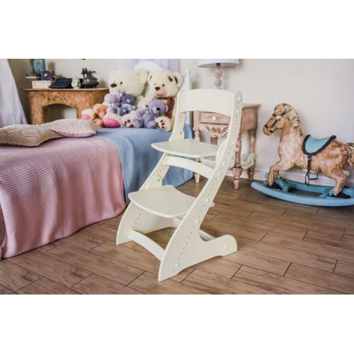 Детский растущий стул Павлин Слоновая кость
