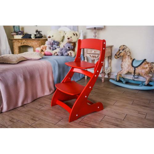 Детский растущий стул Павлин Красный
