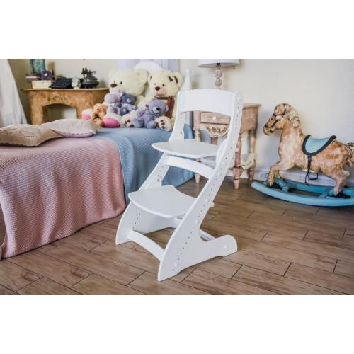 Детский растущий стул Павлин Белый