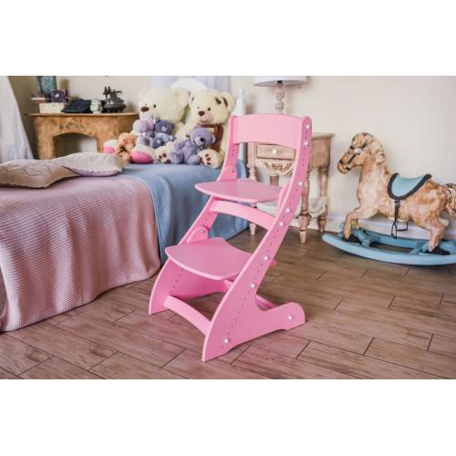 Детский растущий стул Павлин Розовый