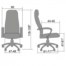 Офисное кресло BP-1 PL Пилот-1