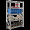 Усиленные металлические стеллажи для склада