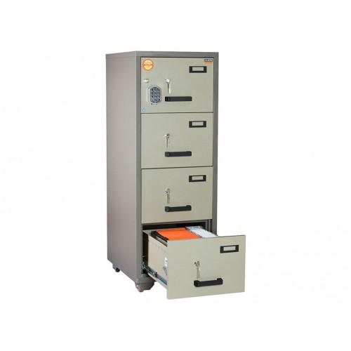 Металлический картотечный шкаф (картотека) VALBERG FC 4E-KK