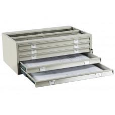 Металлический картотечный шкаф (картотека) ПРАКТИК A1-05/2 (ПРОМЕЖУТОЧНАЯ СЕКЦИЯ)