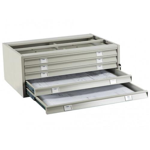 Металлический картотечный шкаф (картотека) ПРАКТИК А0-05/2 (ПРОМЕЖУТОЧНАЯ СЕКЦИЯ)