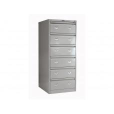 Металлический картотечный шкаф (картотека) ПРАКТИК AFC-06