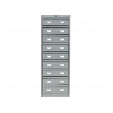 Металлический картотечный шкаф (картотека) ПРАКТИК AFC-09C