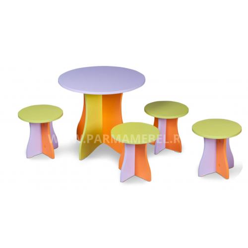 Комплект игровой ДАЧНЫЙ (стол + 4 табурета)