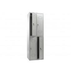 Металлический шкаф для одежды ПРАКТИК СТАНДАРТ LS-22