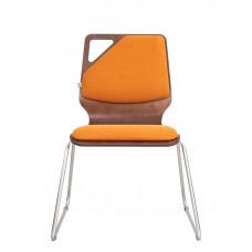 Обеденный металлический стул Молли Вуд Хром (Molly Wood Chrome)