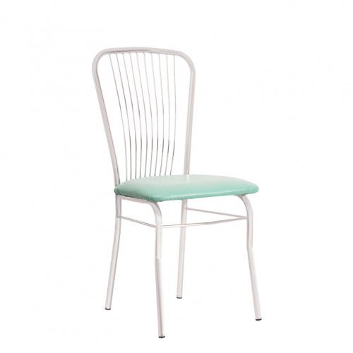 Обеденный металлический стул Нерон Сильвер (Neron Silver)