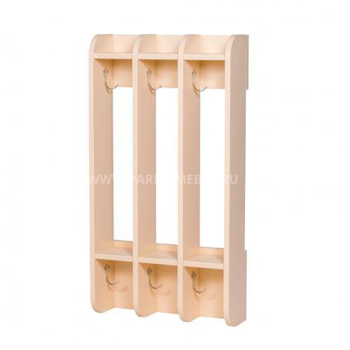 Вешалка для полотенец навесная «ЧИСТЮЛЯ» 3 секции