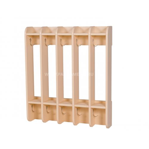 Вешалка для полотенец навесная «ЧИСТЮЛЯ» 5 секций