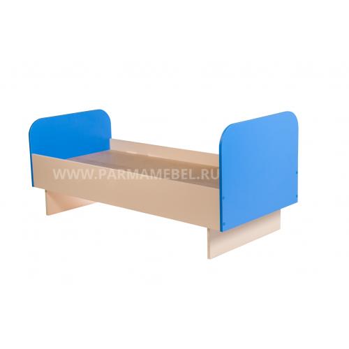 Кровать детская с цветными спинками ЯСЛИ (Цвет: Синий)