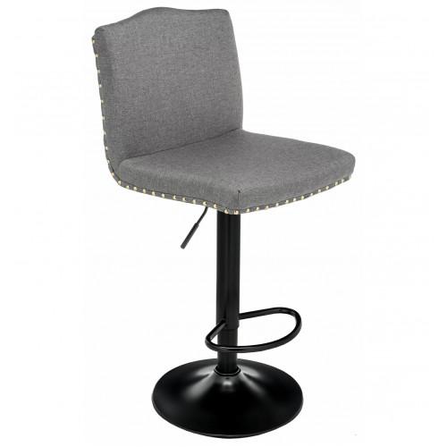Барный высокий стул Кроун Грей Фабрик (Crown Gray Fabric)