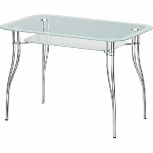 Обеденный стеклянный стол В-2