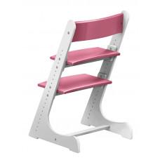 Детский растущий стул Конёк Горбунёк Бело-розовый