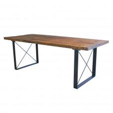 Обеденный деревянный стол ЛОФТ-3