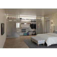 Выдвижная корзина для настенного торгового стеллажа и гардеробной системы